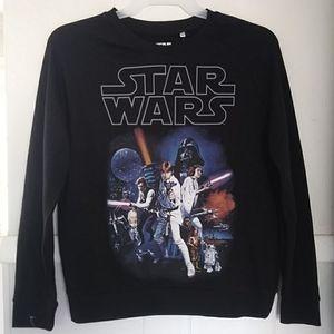 Star wars mighty fine black sweatshirt NWT